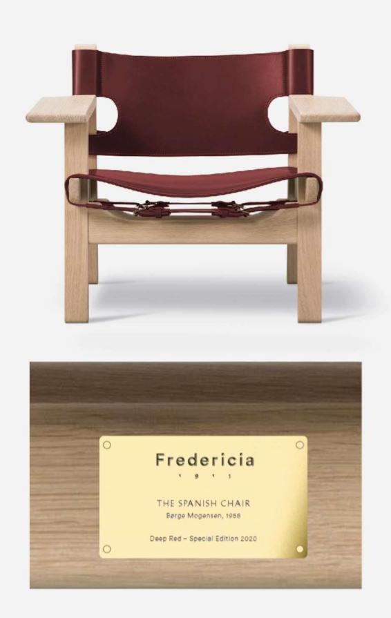 Spanish Chair Deep Red +  特別生産真鍮プレート
