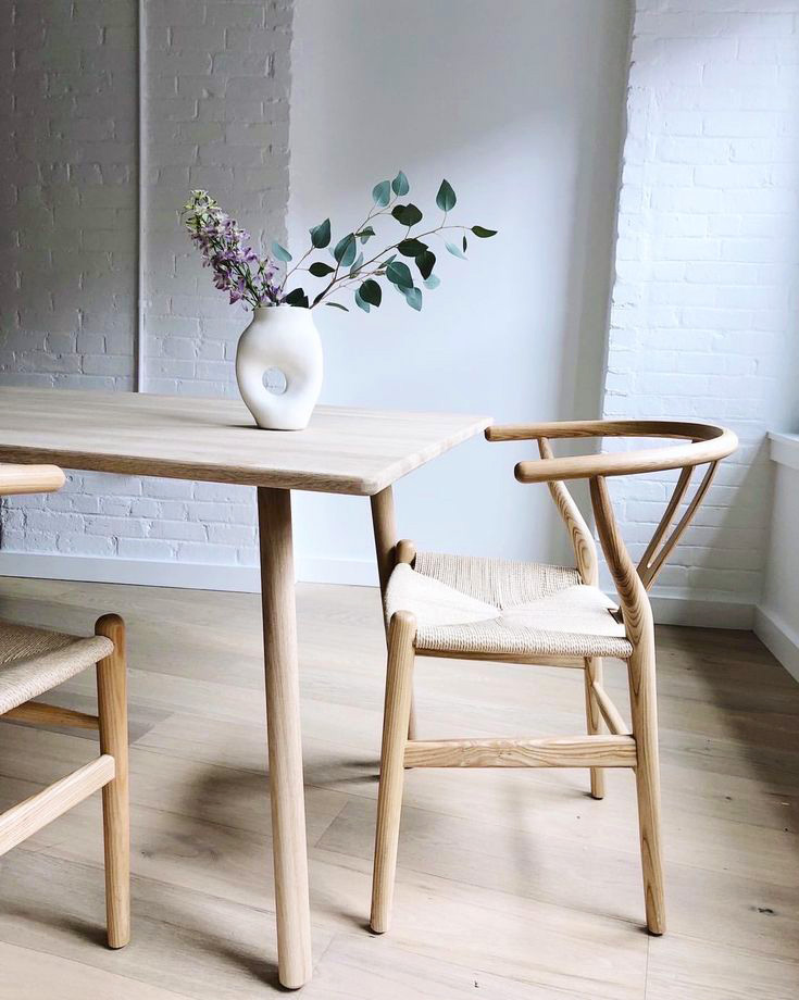 SKAGERAK-Georg Dining Table oil treatment + CH&S-CH24 photographed by Lauren Wells